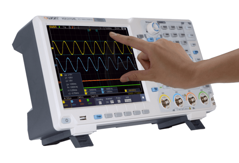 Oscilloscope with Touch Screen