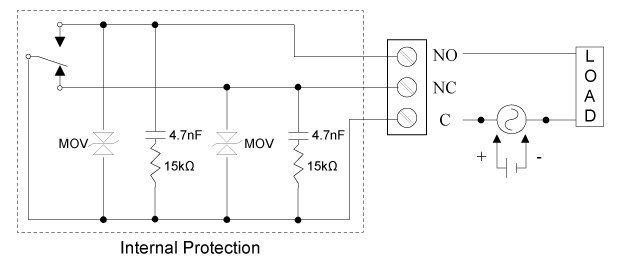 AC and DC Internal Inductive Load Protection