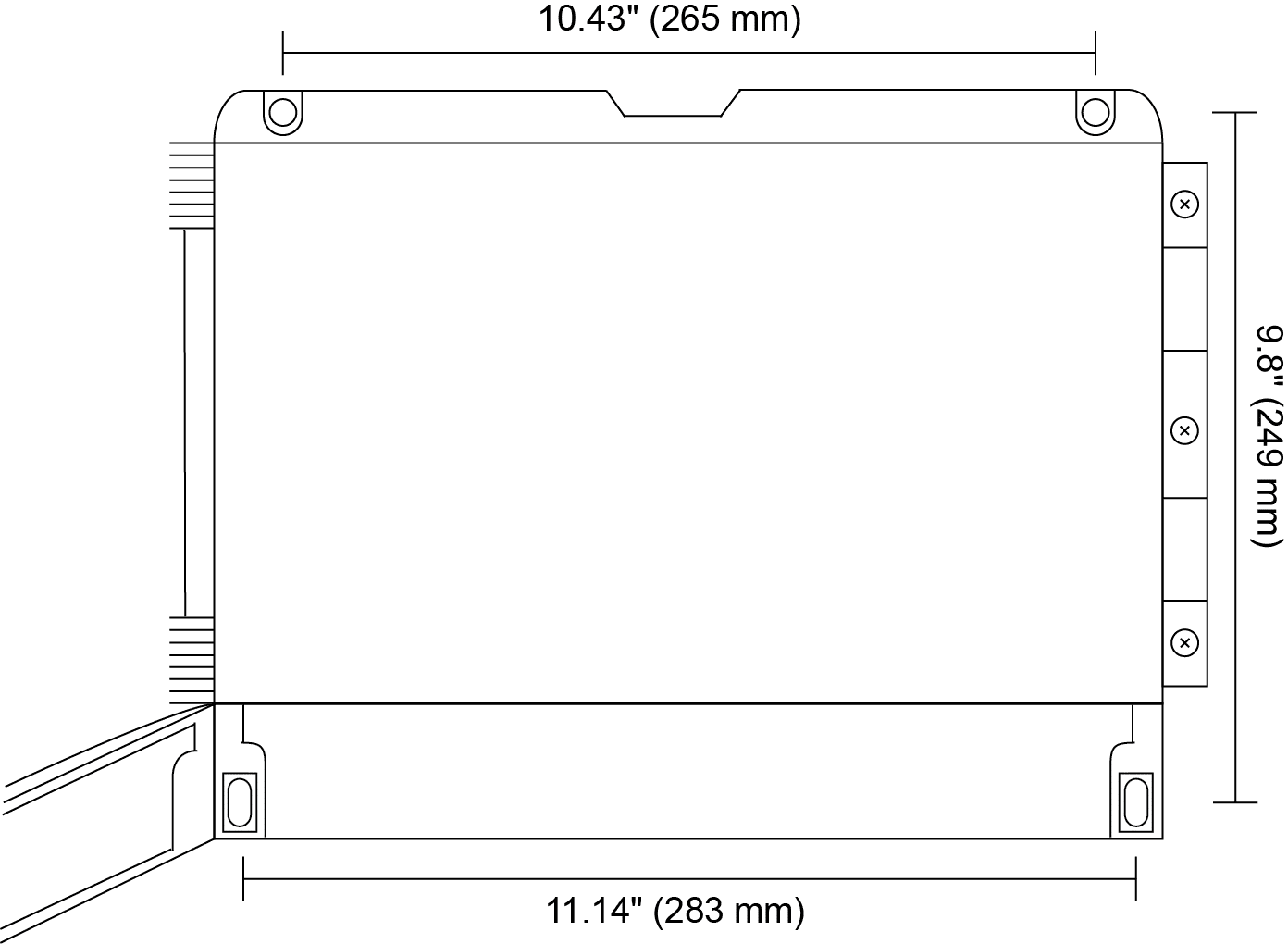 Helios Large Display Meter dimensions