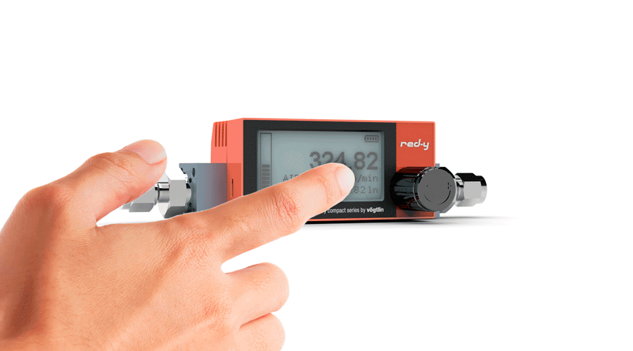Touch Screen Mass Flow Meter